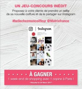 Participer au jeu-concours SELFIE BEAUTE MATRIX dans votre salon Confidence Beauté By Fabien ! ( Opération terminée )